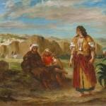Delacroix vue de tanger avec arabes