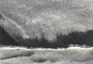 Nocturn landscape black silver