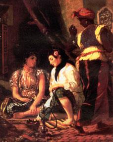 delacroix women of Algier 1832